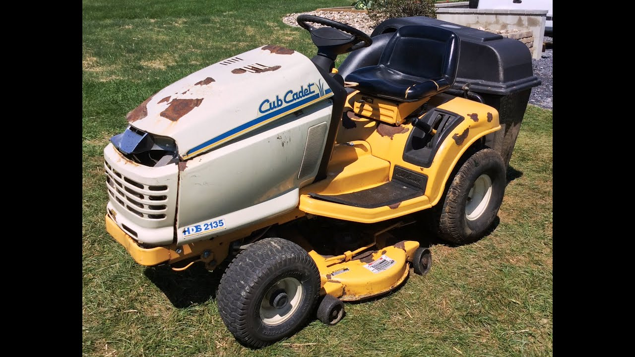 cub cadet riding lawn mower for sale youtube. Black Bedroom Furniture Sets. Home Design Ideas