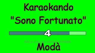 Karaoke Italiano - Sono fortunato - Modà ( Testo )