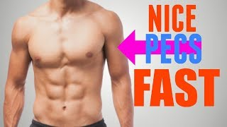 3 Exercises to get NICE Solid Pecs FAST
