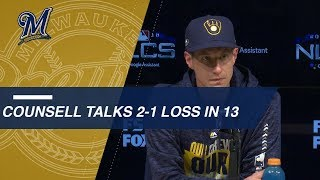 NLCS Gm4: Craig Counsell on extra-inning Game 4 loss