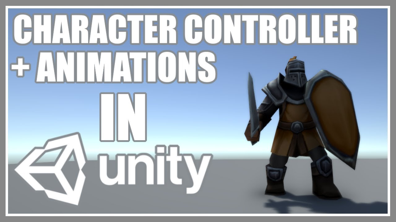 CHARACTER CONTROLLER WITH ANIMATIONS - WALK AND ATTACK - Unity 3D - Quick  And Easy