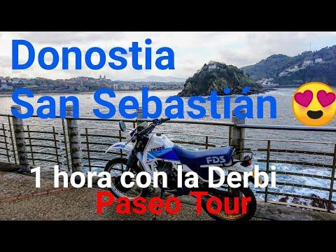 Escapada a Donostia en Moto Derbi FDS de 1h | San Sebastián Short Breaks| Motodiógenes Rider