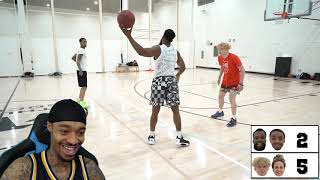 FlightReacts & Cashnasty vs TJass & Jenna Bandy 2v2 Basketball Reaction!