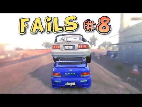 Racing Games FAILS Compilation #8