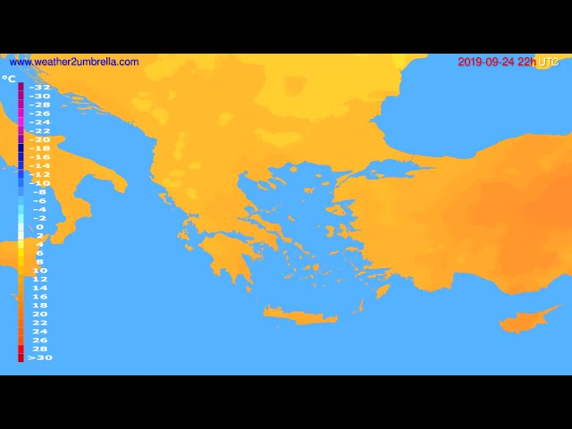 <span class='as_h2'><a href='https://webtv.eklogika.gr/' target='_blank' title='Temperature forecast Greece // modelrun: 12h UTC 2019-09-22'>Temperature forecast Greece // modelrun: 12h UTC 2019-09-22</a></span>