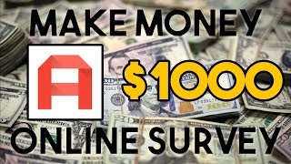 How to make money online w/ survey!! 2019
