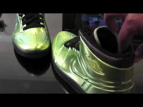 huge discount 9a3d6 5dfd3 Nike Air Jordan Anodized 1(Altitude Green)... a closer look2 - YouTube