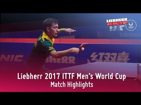 2017 Men's World Cup Highlights I Kou Lei vs David Powell (Group)