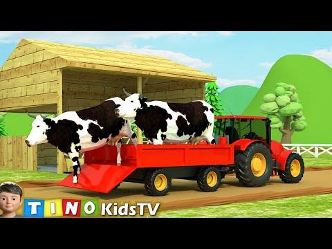 Farm Animal Houses Construction for Kids | Mini Excavator & Construction Trucks for Children