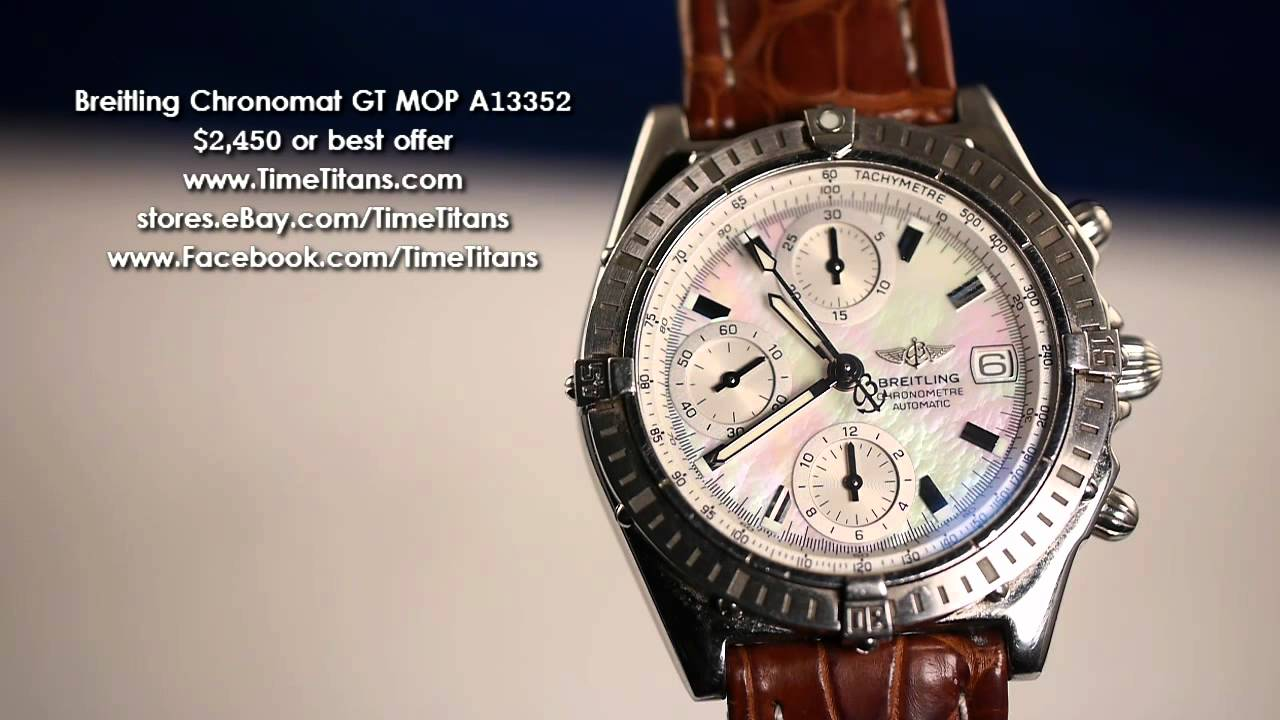 Breitling Chronomat GT Mother Of Pearl A13352
