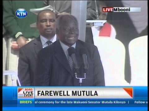 Former President Kibaki funny moments at Mutula's funeral