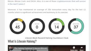 LITECOIN HALVING UPDATE! IMPORTANT INFO! BE READY MY FRIENDS..