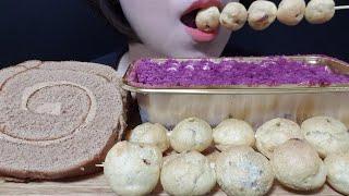 고구마티라미수 케이크, 콜드브루롤케이크, 홈런볼,먹방 …