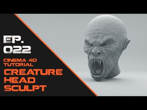 Sculpt a Creature Head in Cinema 4D