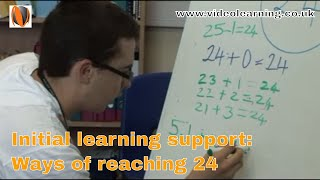 Initial Learning Support lesson - Ways of reaching the number 24