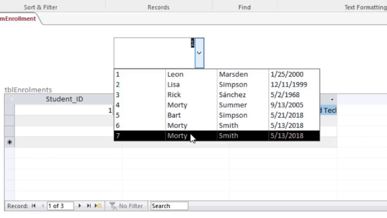MS Access Controlling Subforms from Combo boxes