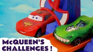 Lightning Mcqueen Cars Challenges With Hot Wheels Avengers And Toy Story Cars For Kids Tt4u