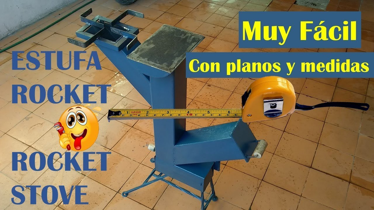 Con Planos Y Medidas Estufa Rocket Paso A Paso Rocket Stove