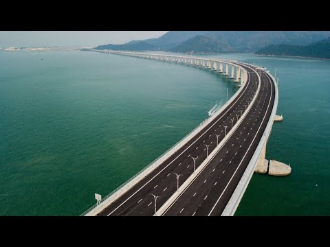 China unveils world's longest bridge linking Hong Kong with mainland