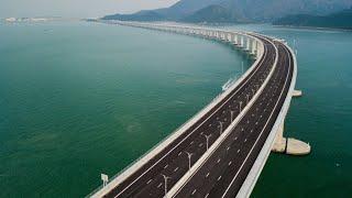 China unveils world's longest bridge linking Hong Kong with mainland