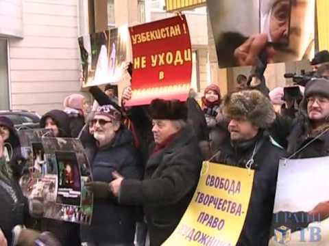 Акция солидарности с Умидой Ахмедовой (Грани-ТВ)