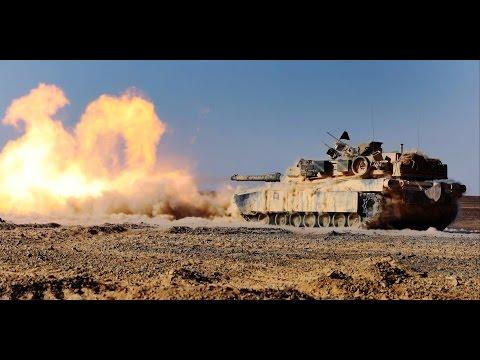 M1A1 Abrams Tanks Firing
