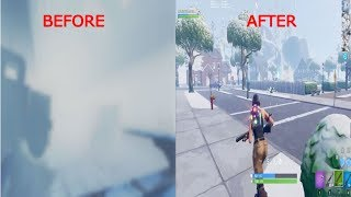 [NOT PATCHED] How To Get Rid Of The Fog In Fortnite!