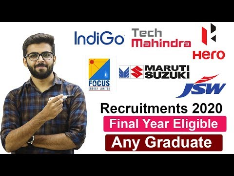 Recruitment 2020   Final Year Eligible   Hero Motors   Indigo   Tech Mahindra   Latest Job 2020