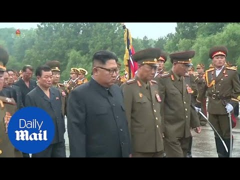 Kim Jong-Un attends the funeral of military chief Kim Yong Chun - Daily Mail