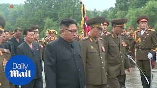 Kim Jong-Un attends the funeral of military chief Kim Yong Chun