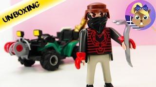 Συναρμολογούμε το σετ παιχνιδιού Playmobil City Action: Κακοποιός σε μηχανή- γουρούνα και κλοπιμαία