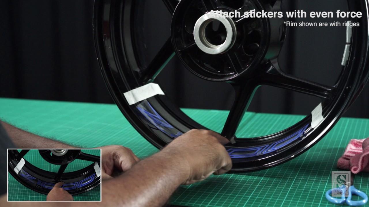 Stickman vinyls inner rim motorcycle sticker assembly guide
