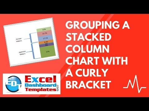 Grouping a Stacked Column Chart with a Curly Bracket