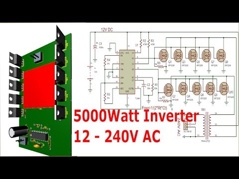 Make a 5000Watt Inverter 12 220V with TL494 and Power MOSFETs - YouTube