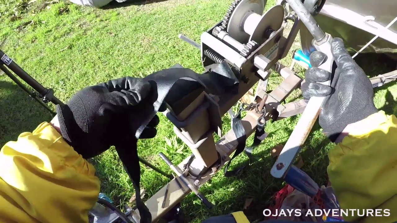 How to Install a boat trailer winch strap (Atlantic winch)