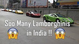 Lamborghini Parade in India (Bangalore)