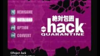 .Hack Quarantine Part 4 Intro Bandai Sony Playstation 2 Pal Version
