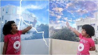 Kids Magic Funny Tricks Sky and Rain Video Effects