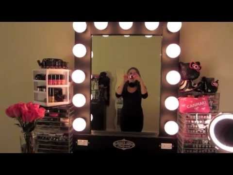VANITY GIRL HOLLYWOOD LIGHTED BROADWAY MIRROR REVIEW - YouTube