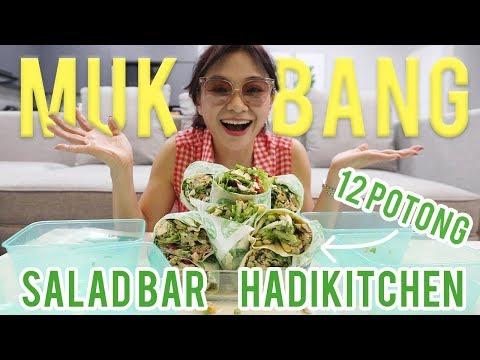 MAMA HADI MUKBANG SALAD BAR LANGSUNG 12 POTONG !!!