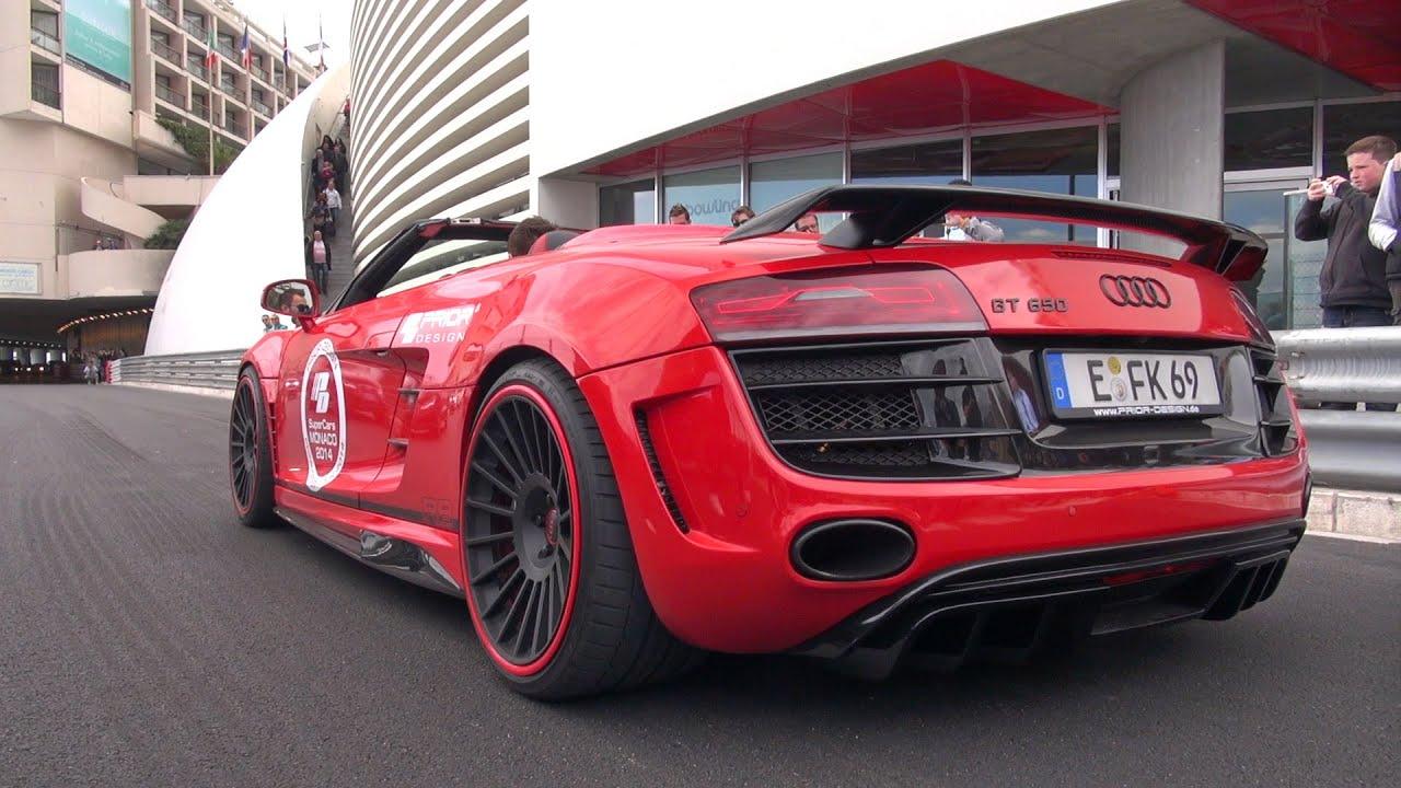 Audi R8 V10 GT650 + Mercedes C63 AMG Androsch Edition - SOUND!