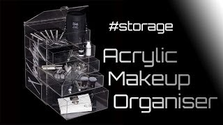 Acrylic Makeup Organiser - Prestige Cosmetic And Jewellery Storage Box