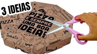 3 IDEIAS INCRÍVEIS COM CAIXA DE PIZZA | SHOW DE ARTESANATO ❤️