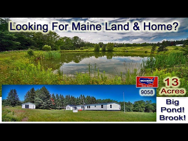 Homes In Maine For Sale | 13 Acres, Waterfront Ranch House MOOERS REALTY 9058