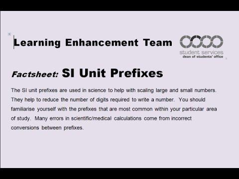 SI Unit Prefixes webcast