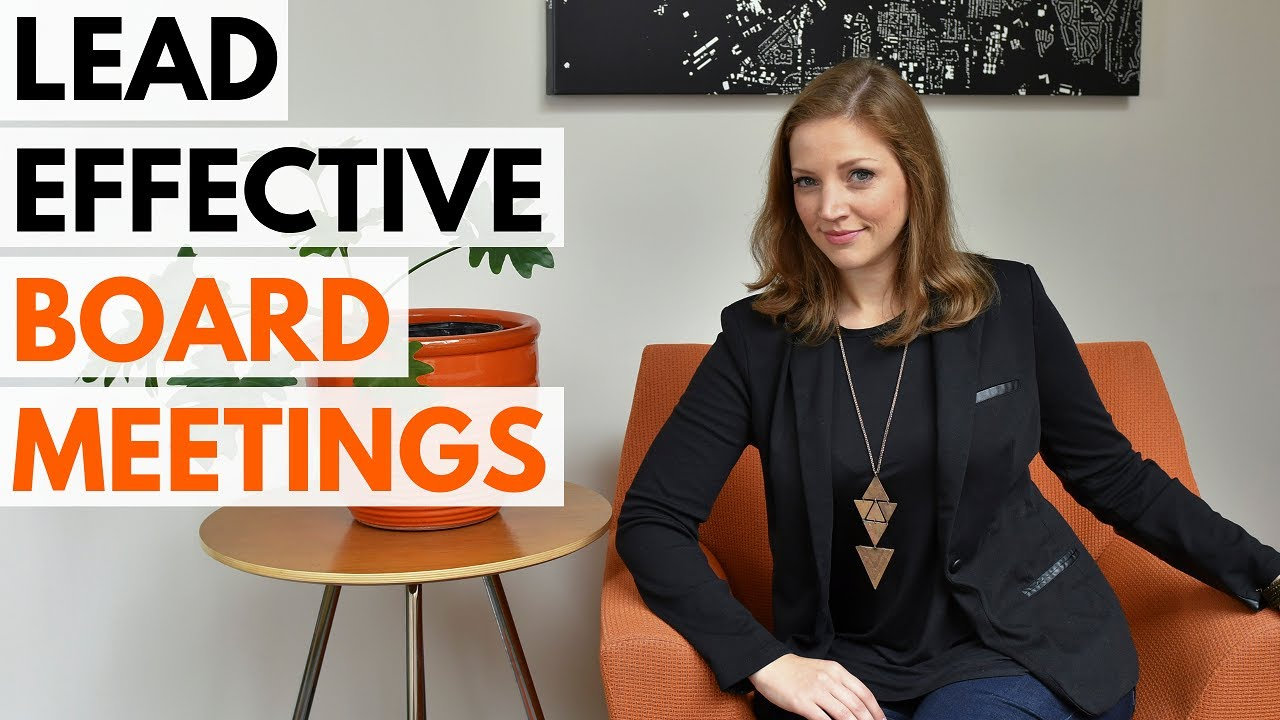 Leading Effective Nonprofit Board Meetings! 7 Tips