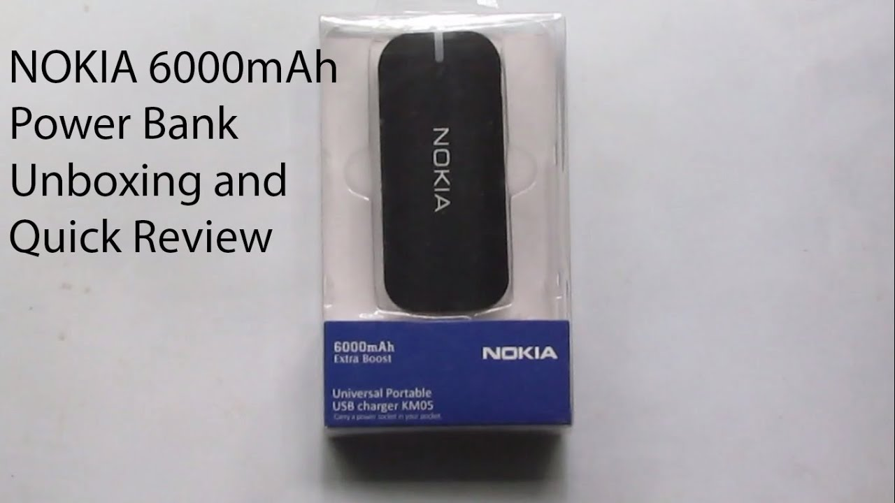 Nokia Power Bank Unboxing And Quick Review