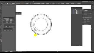 Урок по верстки макета круглой печати в Adobe Illustrator