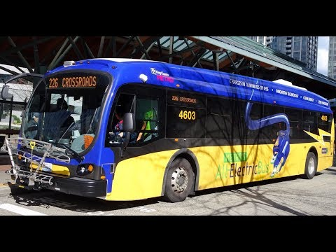 ELECTRICITY CHECK... King County Metro 2016 Proterra Catalyst BE40 4603 on Rt. 241