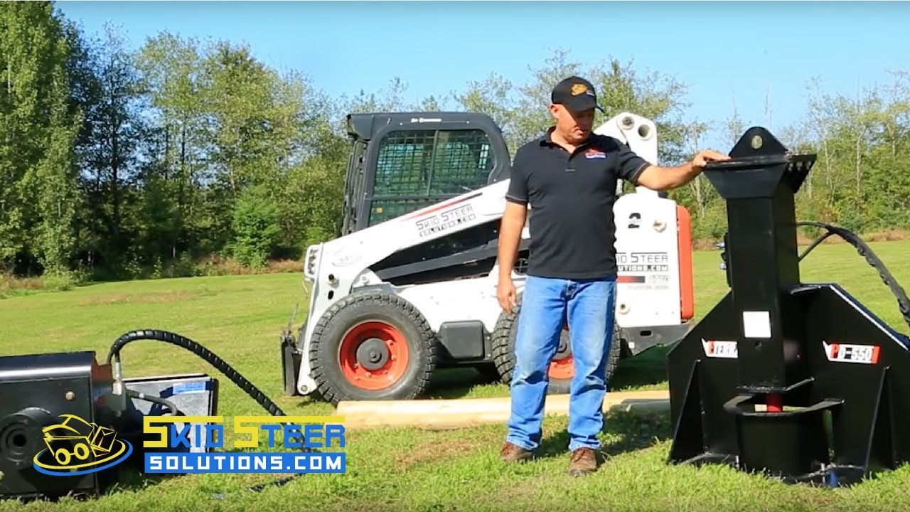 Skid Steer Post Driver Eterra Pd 550 Gas Charged